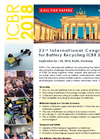 23rd International Congress for Battery Recycling ICBR 2018 Brochure