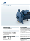 Pedrollo - Model CP up to 11 kW - Centrifugal Pumps - Brochure