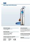 Pedrollo - Model NK - Multi-stage Submersible Pumps - Brochure
