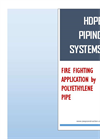 HDPE Pipeing ( High Density Polyethylene Pipe ) Systems - Brochure