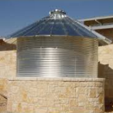 Metal Tanks with Stone Accents