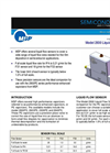 MSP - Model 2930 - Liquid Flow Sensor Datasheet