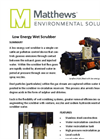 Low Energy Wet Scrubber Datasheet