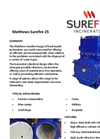 Matthews Surefire 25 Fixed Hearth Incinerators Datasheet
