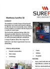 Matthews Surefire 50 Fixed Hearth Incinerators Datasheet