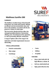 Matthews Surefire 200 Fixed Hearth Incinerators Datasheet
