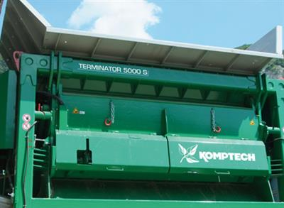 Komptech - Model Terminator - Single Shaft Wood Waste Shredder