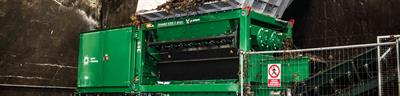 Komptech - Model Crambo - Stationary Dual-Shaft Shredder for Wood and Green Waste
