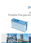 Portable emission flue gas analyzer, on-line analyzer, SOx, NOx, CO, CO2, O2