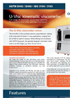 Omnitek - Model U-VIsc Series ASTM D445 - Automated Viscometer System - Brochure