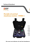 Model FS900I + - Portable Oil and Fuel Cleanliness Monitor - Brochure