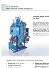 ISTpure - Model CSR 120V - Continuous Solvent Recycler - Brochure
