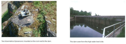 Ambient Vibration Testing of a Dam, Canada - Case Study