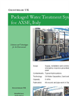 Packaged Water Treatment System for AXSE, Italy - Brochure