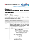 Determination of Chlorine, Iodine and Sulfur in LCD Components Brochure