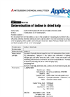 Determination of Iodine in Dried Kelp  Brochure