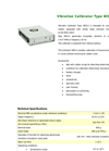 Eco Tech - Model Type WDS-2 - Vibration Calibrator - Datasheet