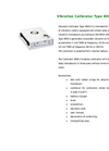 Eco Tech - Model Type WDS-3 - Vibration Calibrator - Datasheet