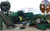 Waste tyre recycling disposal pyrolysis plant running video in Panama