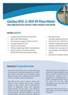 Model RSS-2-300 W - High Precision Non Contact Open Channel Flow Meter Brochure