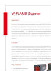 Model W - Flame - Fully Integrated Optical Flame Detection System Brochure