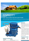 Xylem - Model GSP0311 - Cast Iron Sump and Effluent Pump - Datasheet
