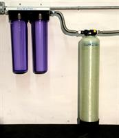 NuWater - Model 10 x 54 Inch (4 Liter) - Polyphosphate Descaling System  (with 1 Inch In & Out Plastic Distributer Heads)