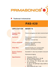 PRIMA - Model PAS 420 - Acoustic Cleaner- Brochure