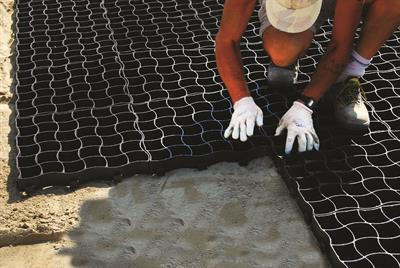 RUNFLOOR - The Grid for the Creation of High Resistance Green Drivable Areas