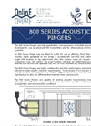 Model 800 Series - High Specification Micro Processor Controlled Acoustic Transmitters - Brochure