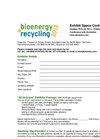 bioenergy + recycling 2013 - Exhibitor Application