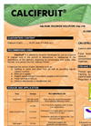 CALCIFRUIT - Calcium Deficiency Corrector Brochure