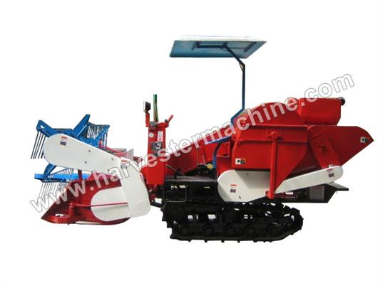Crawler Type Small Rice Combine Harvester