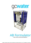 GCWater - Model AB Formulator - Reverse Osmosis Unit - Brochure