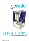 GCWater - Model Easy AB Formulator - Reverse Osmosis Unit - Brochure