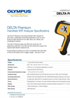 DELTA Premium Handheld XRF Analyzer Spec. Sheet