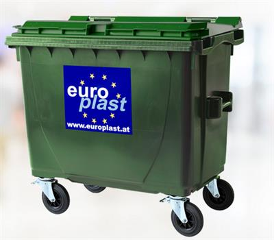 EuroPlast - Model 660 L - 4 Wheeled Collection Bin Systems