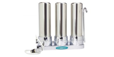 Crystal Quest - Model CQE-CT-00109 - SMART Triple Countertop Water Filter System
