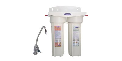 Crystal Quest - Model CQE-US-00306 - SMART Double Under Sink Water Filter System