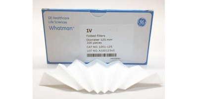 GE Whatman - Model Grade 1V - Qualitative Filter Papers, Fluted