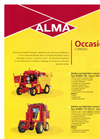 ALINEA - Model 100 - Automotrice 4 Roues Trailed Harvester Brochure
