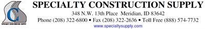 Specialty Construction Supply