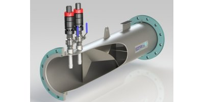 Statiflo - Model Series 600/650 - Cutaway with Chemical Dosing Lances