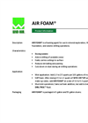 AIR FOAM Product Sheet