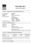 CEMENTGEL Non-Polymer Treated Bentonite - Safety Data Sheet
