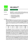 SRS GROUT Grouting Media - Brochure