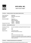 WYO-FLOC Synthetic Flocculant - Safety Data Sheet