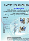 Model GTP 130 / 220 BASIC - Water Generator Brochure