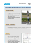 Precipitation measurement with GPRS data transmission