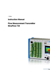 NivuFlow - Model 750 - Flow Measurement Transmitter Instruction Manual